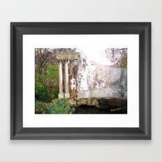 Adonis garden Framed Art Print