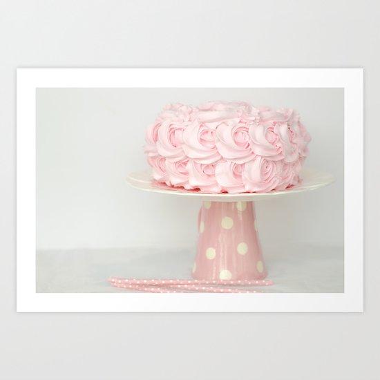 birthday cake Art Print