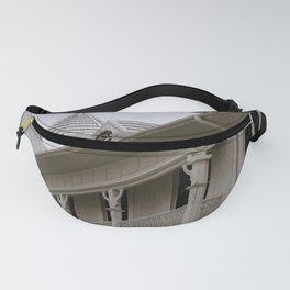 Wooden Building Balcony Fanny Pack