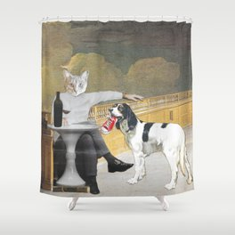 The Difference Between Cats and Dogs II Shower Curtain
