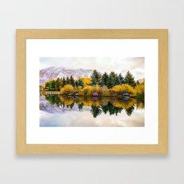 Calm Morning - Aspen Colorado Mountain Landscape Framed Art Print