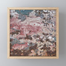 Cracking Paint and Rust Abstract Framed Mini Art Print