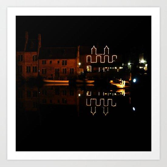 night in Bruges Art Print