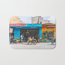 On the Street, Guatape, Colombia Bath Mat