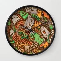 wasted rita Wall Clocks featuring Wasted Days by Craig Watkins