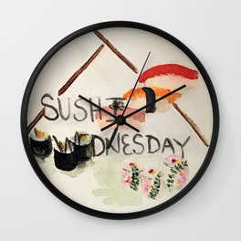 Sushi Wednesday  Wall Clock
