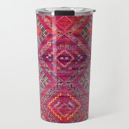 N118 - Pink Colored Oriental Traditional Bohemian Moroccan Artwork. Travel Mug