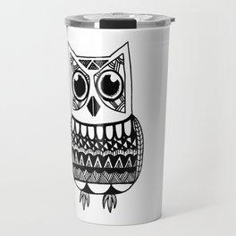 Abstract Owl Travel Mug