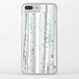 Pale Birch and Blue Clear iPhone Case