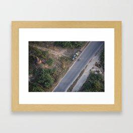 HIGH ABOVE Framed Art Print