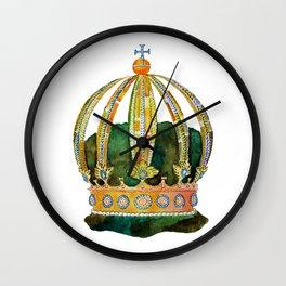 Portuguese Emperor's Crown Wall Clock