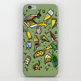 PIZZA AND BEER iPhone Skin