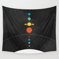 solar system Wall Tapestries featuring The Solar System by John David Harris
