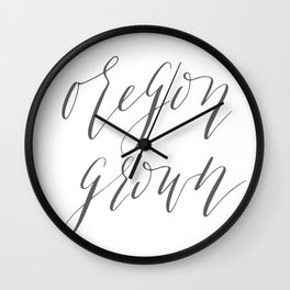 Oregon Grown Wall Clock