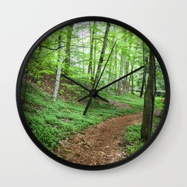 Into The Woods - Woodland Spring Path Wall Clock
