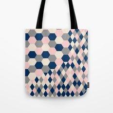 Honeycomb Blush and Grey Tote Bag
