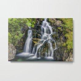 Aqua Waterfall Metal Print