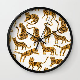 Tiger Collection – Orange Palette Wall Clock