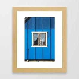 pretty window - greenland Framed Art Print