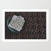 coasters Art Prints featuring coasters by Rae Snyder
