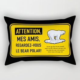 Le bear polar sign Rectangular Pillow
