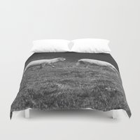 sheep Duvet Covers featuring Sheep by Pati Designs