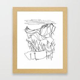 Hidden Alpine Lake Framed Art Print