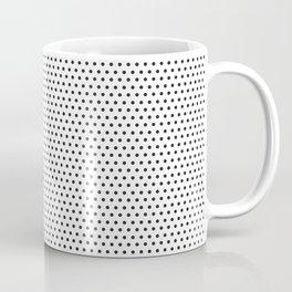 Black & White Pin Dot Coffee Mug