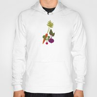 vegetable Hoodies featuring Vegetable Medley by Veronica Galbraith