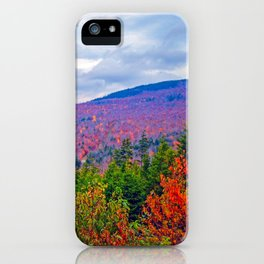 Brilliant Fall Colors at Ira Mountain in Kingfield, Maine (3) iPhone Case
