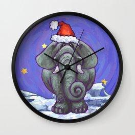 Elephant Christmas Wall Clock