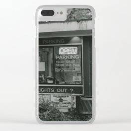 Parking Booth Clear iPhone Case