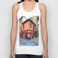 grafitti Tank Tops featuring Grafitti on Elvira Street by Simon Ede Photography
