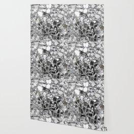 Silver Mirrored Mosaic Wallpaper