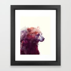 Bear // Calm Framed Art Print