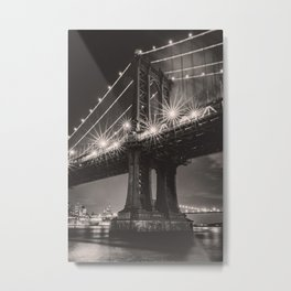 NYC Manhattan Bridge Metal Print