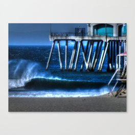 Santa Ana Winds Huntington Beach California Canvas Print