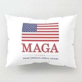 Make America Great Again With USA flag MAGA Pillow Sham