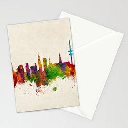 Hamburg Germany Skyline Stationery Cards