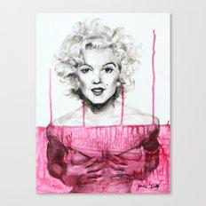 Bloody Marilyn Canvas Print