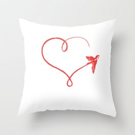 Heart Schwalbe Trajectory Flyer Gift Throw Pillow