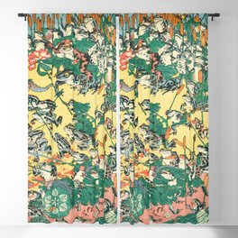 Fashionable Battle of Frogs by Kawanabe Kyosai, 1864 Blackout Curtain