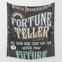 Mystical Fortune Teller poster Wall Tapestry