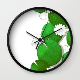 Water lilies card Wall Clock