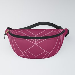 Art Deco in Raspberry Pink - Large Scale Fanny Pack