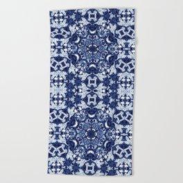Boho Blue Medallion Beach Towel