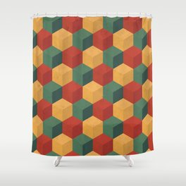 Retro Cubic Shower Curtain