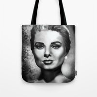grace Tote Bags featuring Grace by Lily Fitch