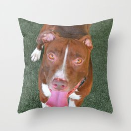 Prestigious Pitbull Throw Pillow