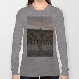 Danbo on rooftops  Long Sleeve T-shirt